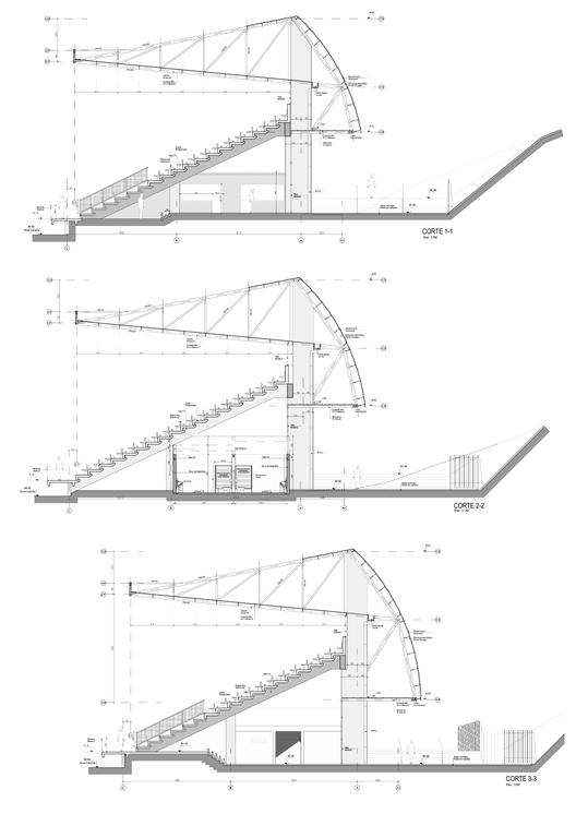 En detalle estructuras a gran escala estadios for Estructura arquitectura
