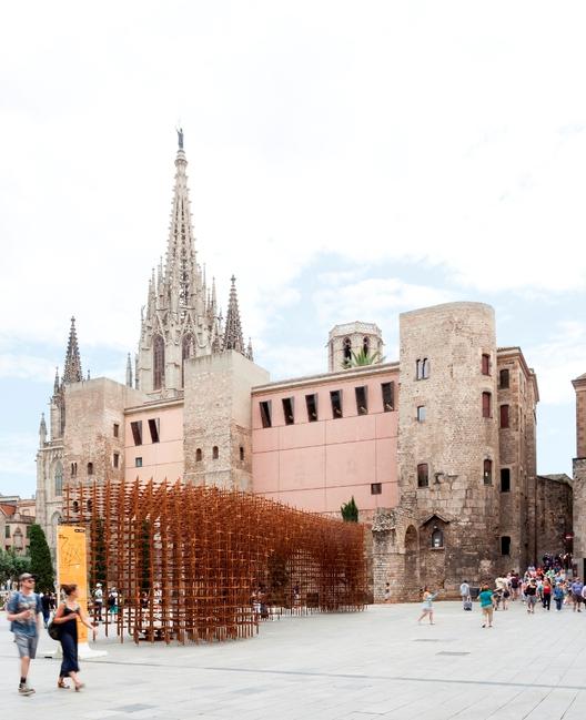Cataluña celebra 300 años en 7 intervenciones urbanas efímeras, Identidad / URBANUS. Image © Marcela Grassi