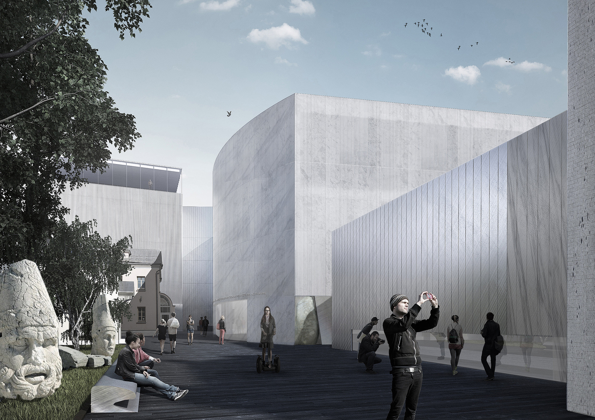 Project Meganom To Remodel Moscow's Pushkin Museum of Fine Arts, Courtesy of Project Meganom