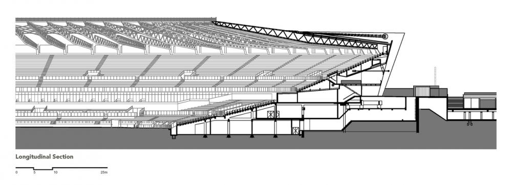 Complejo Deportivo Mineirão / BCMF Arquitetos. Corte / Detalle