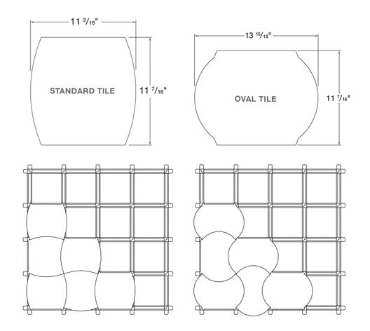 Instalación sobre retícula de aluminio / Wovin Wall