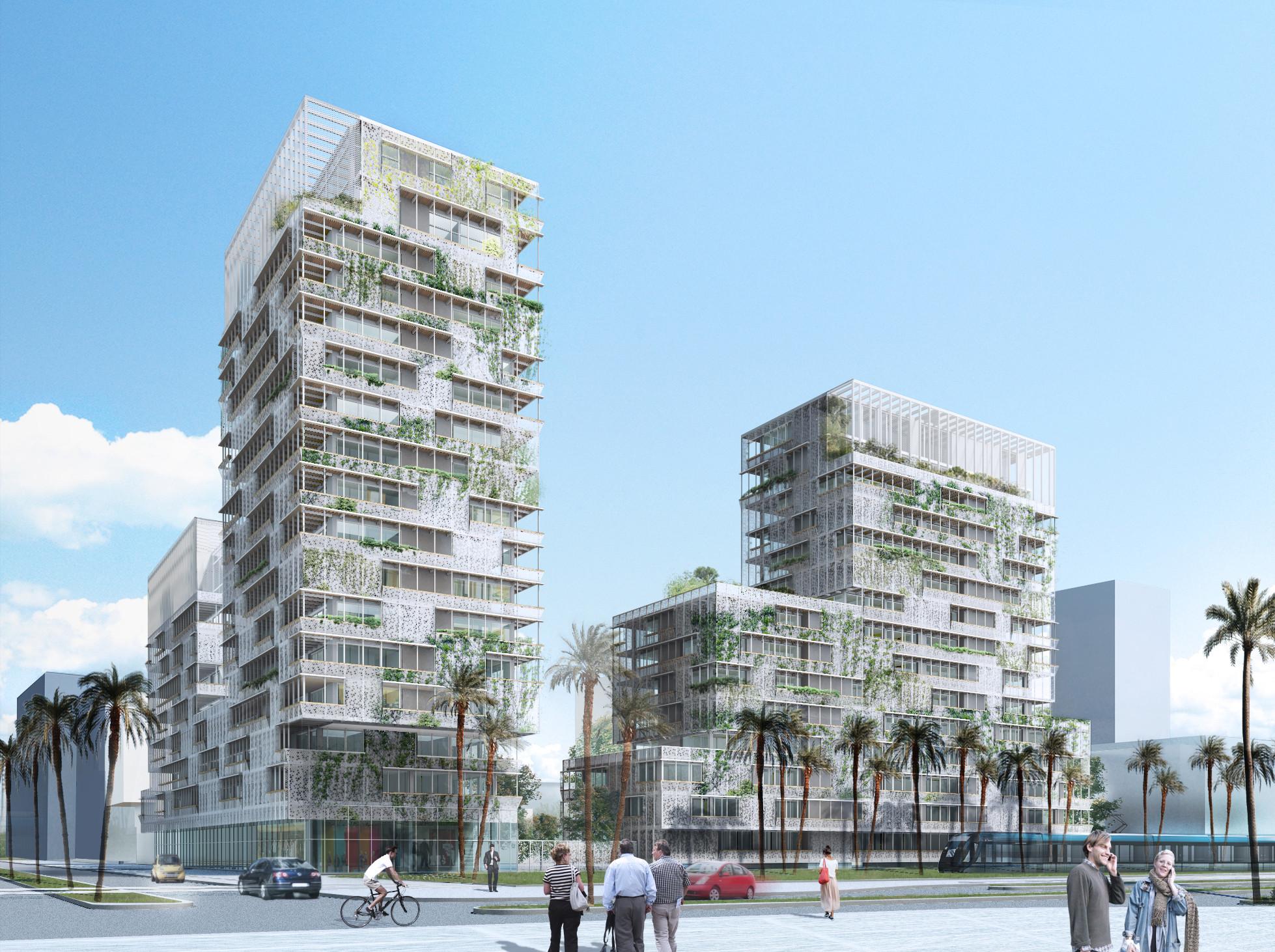 Casablaca Anfa: Herreros Arquitectos' Proposal for a Mixed-Use Building in Morocco, Courtesy of Herreros Arquitectos