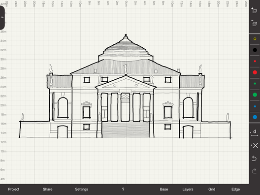 Palladio's Villa Rotunda. Image Courtesy of Arrette Scale