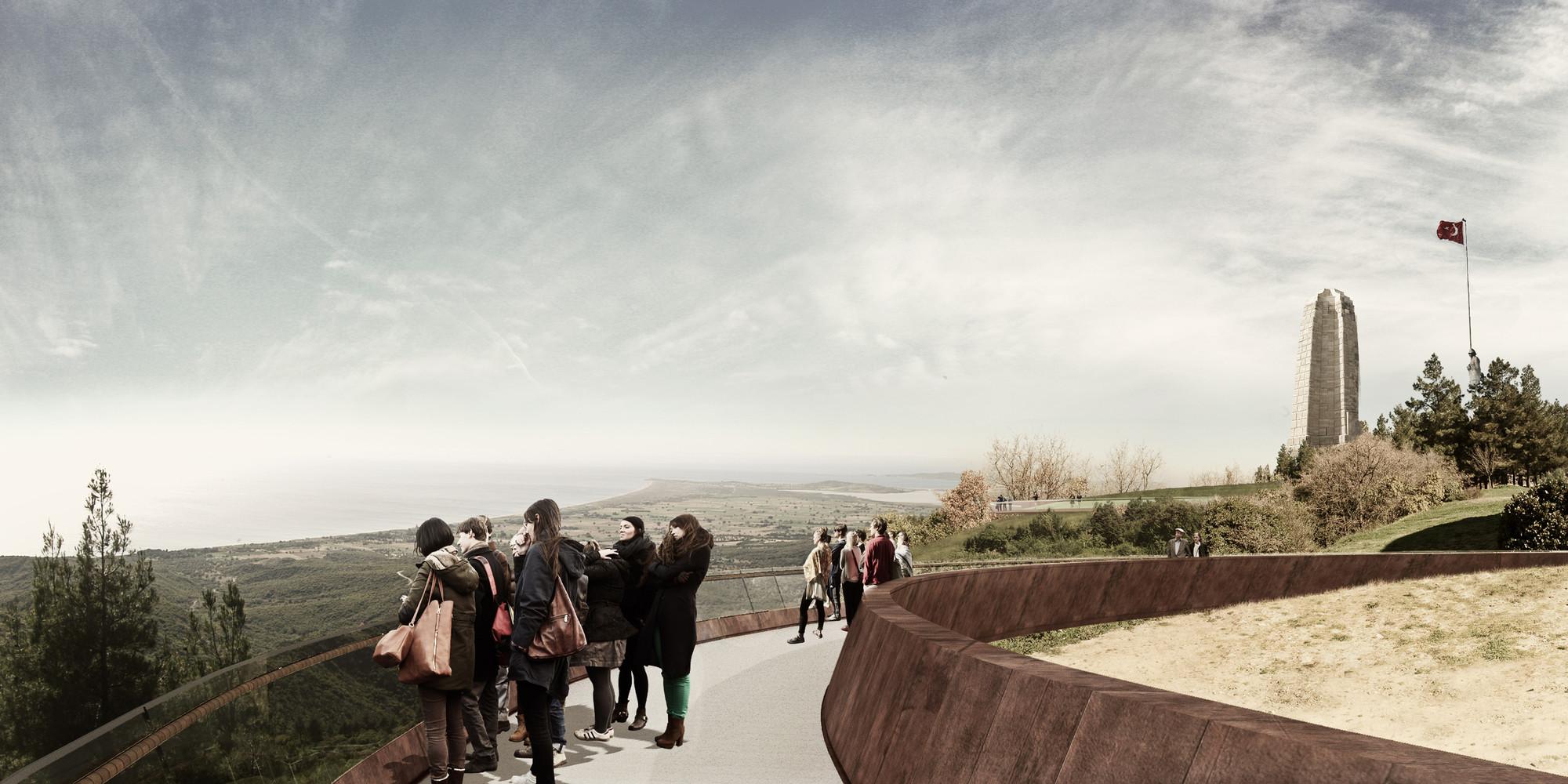 Özer/Ürger Architects + ON Design Take Third Place in Gallipoli National Park Competition, Courtesy of Özer/Ürger Architects
