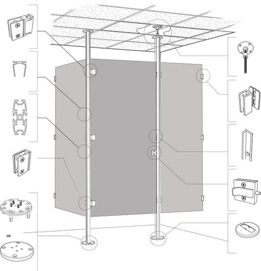 Elementos separadores a presión