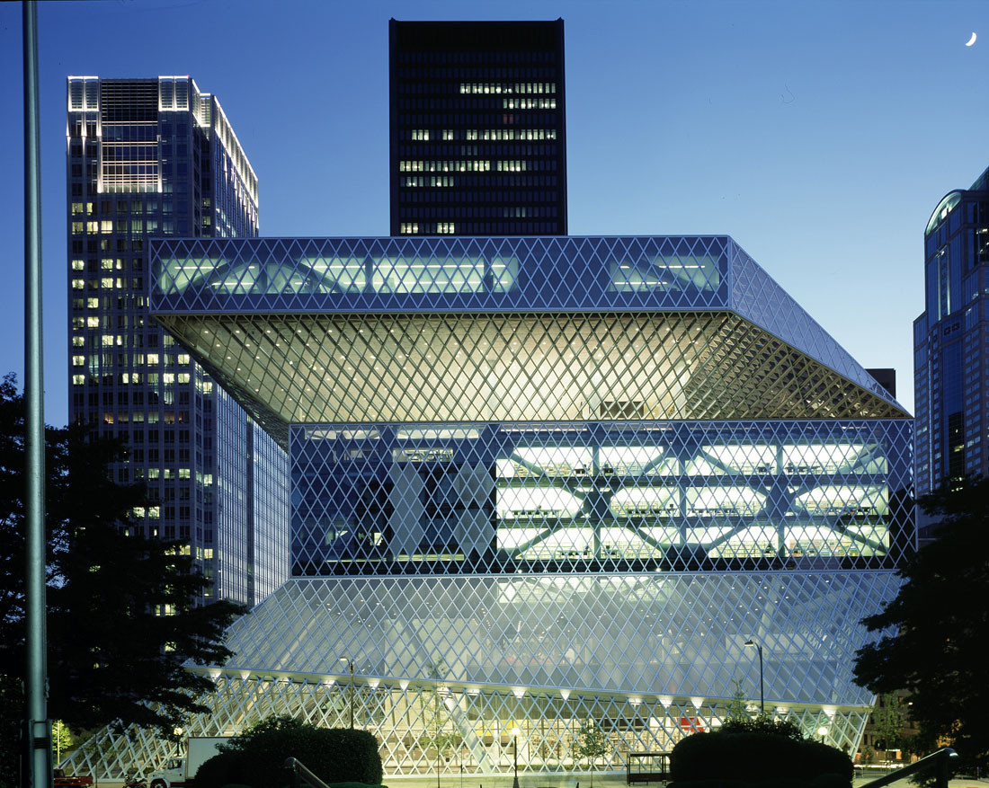 Seattle Central Library / OMA + LMN. Image © Philippe Ruault