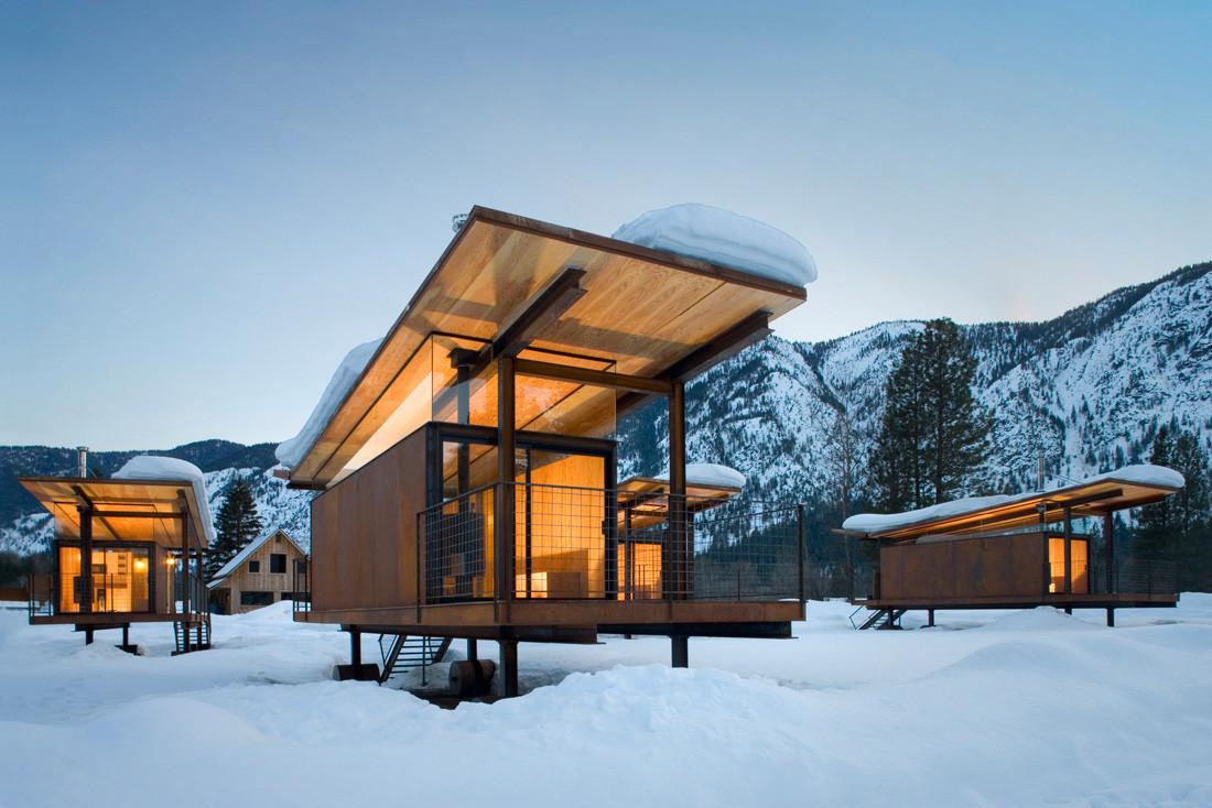 Rolling Huts / OSKA Architects. Imagen © Tim Bies