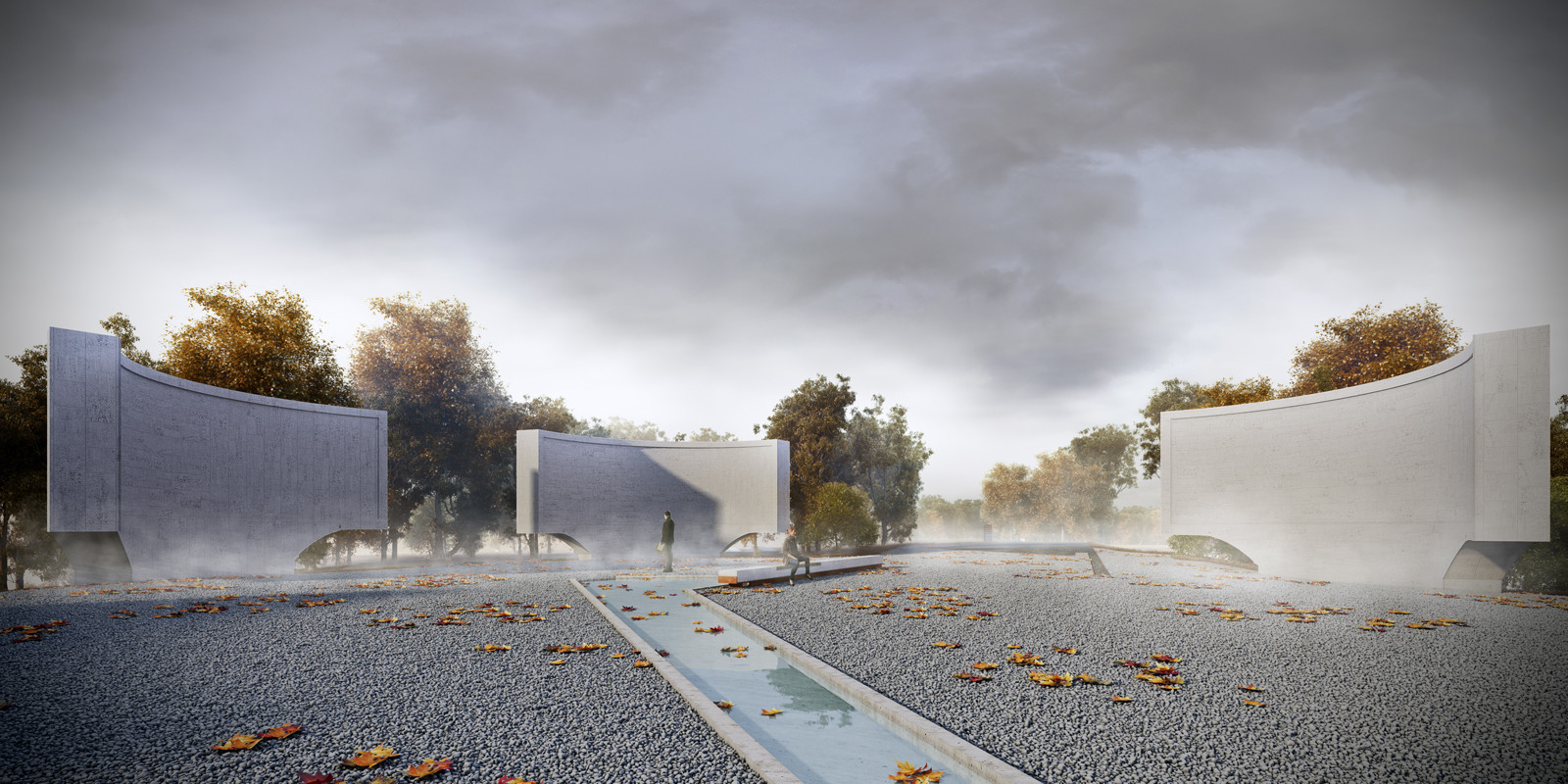 Team Led by ONZ Architects + MDesign Wins Second Place In Gallipoli National Park Contest, Kabatepe Conkbayiri. Image © ONZ Architects & MDesign
