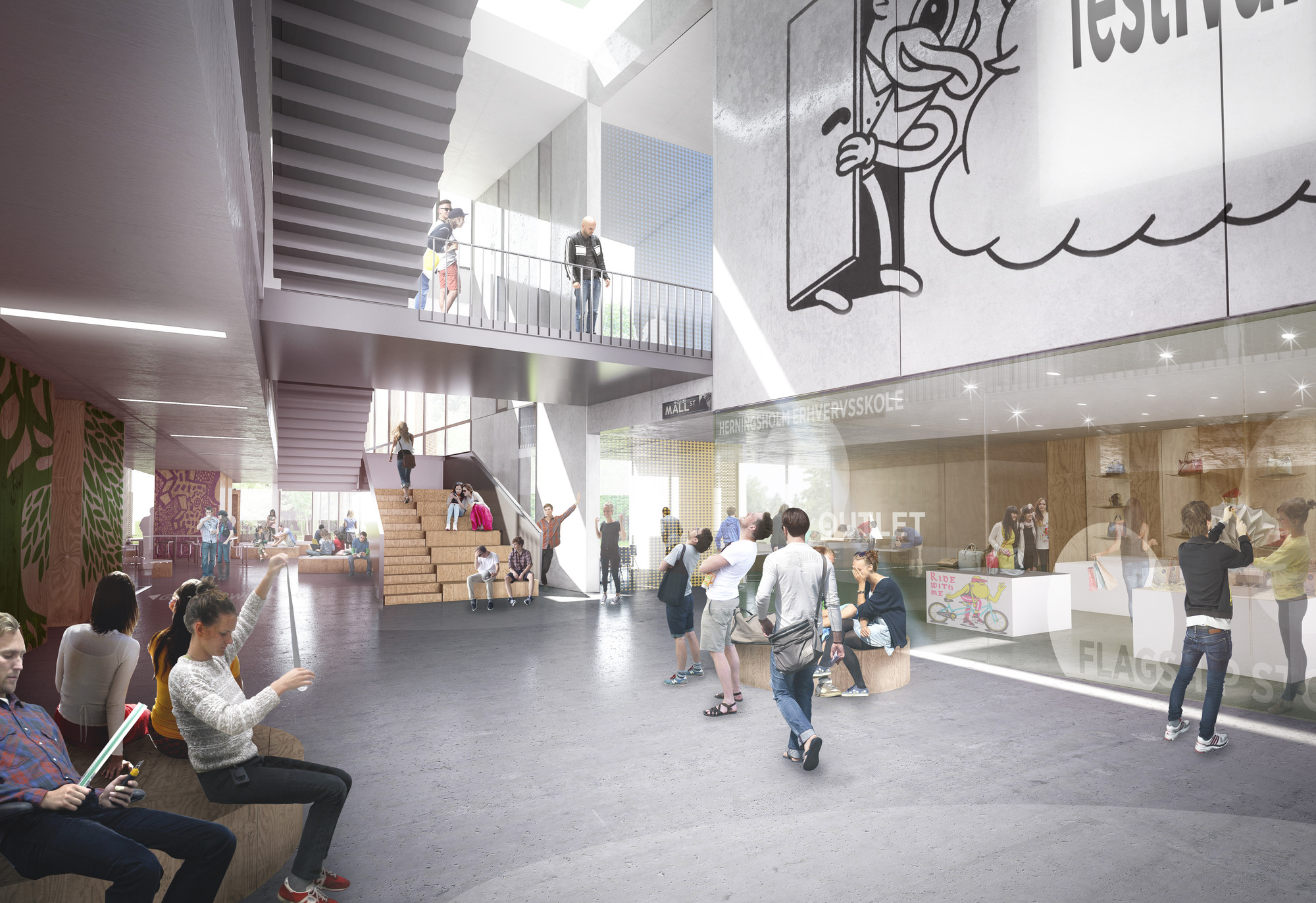 Möller Design c f møller selected to design vocational in denmark archdaily