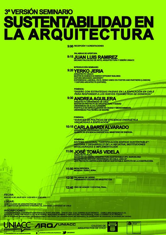 Tercer seminario de sustentabilidad en la arquitectura / Santiago, Chile