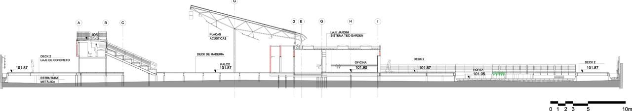 Corte Transversal. Image © Levisky Arquitectos