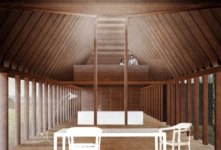 Propuesta de Beals+Lyon Arquitectos. Image Courtesy of Patagonia Virgin