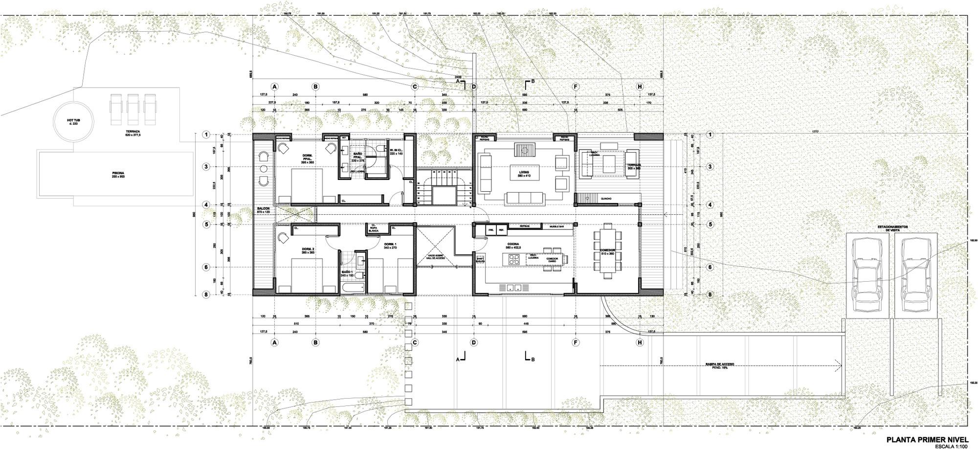 Propuesta de Marianne Balze: planta primer piso. Image Courtesy of Patagonia Virgin