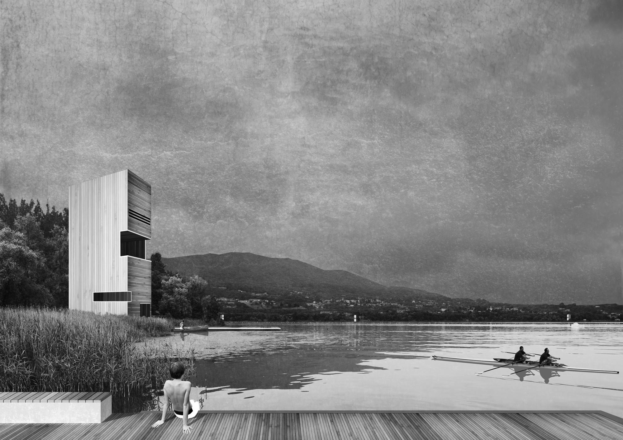 Primer Lugar en Concurso de diseño de infraestructura pública para el lago de Varese / Italia, Courtesy of MILK TRAIN