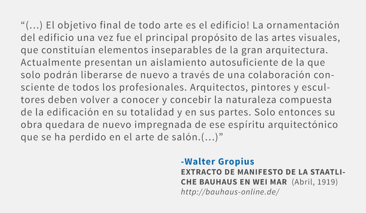 Frases: Walter Gropius