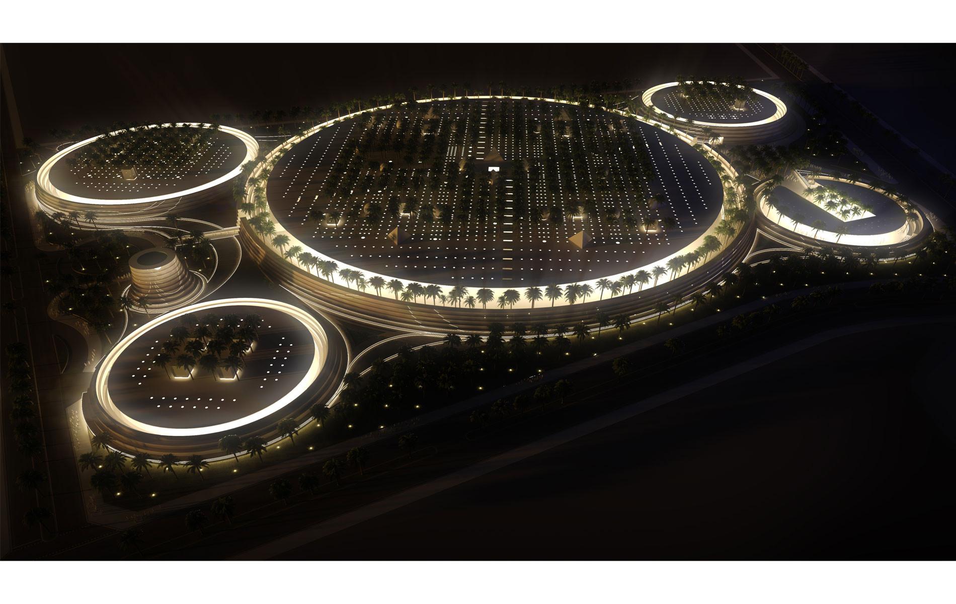 Noble Qur'an Oasis en Medina, Arabia Saudita. Imagen cortesía de Ricardo Bofill Taller de Arquitectura