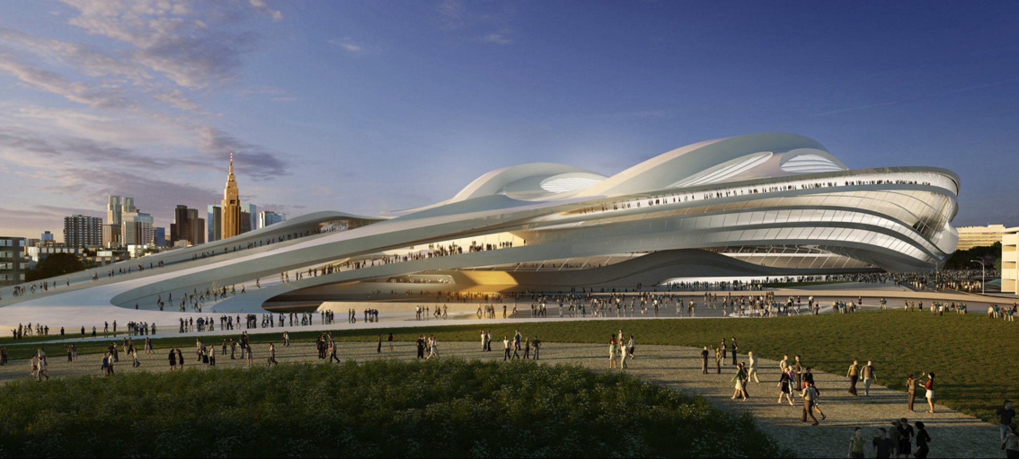 Zaha hadid architects reveals modified tokyo national for Architecture zaha hadid