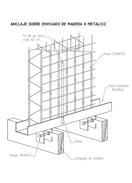 Anclaje a Estructura de madera