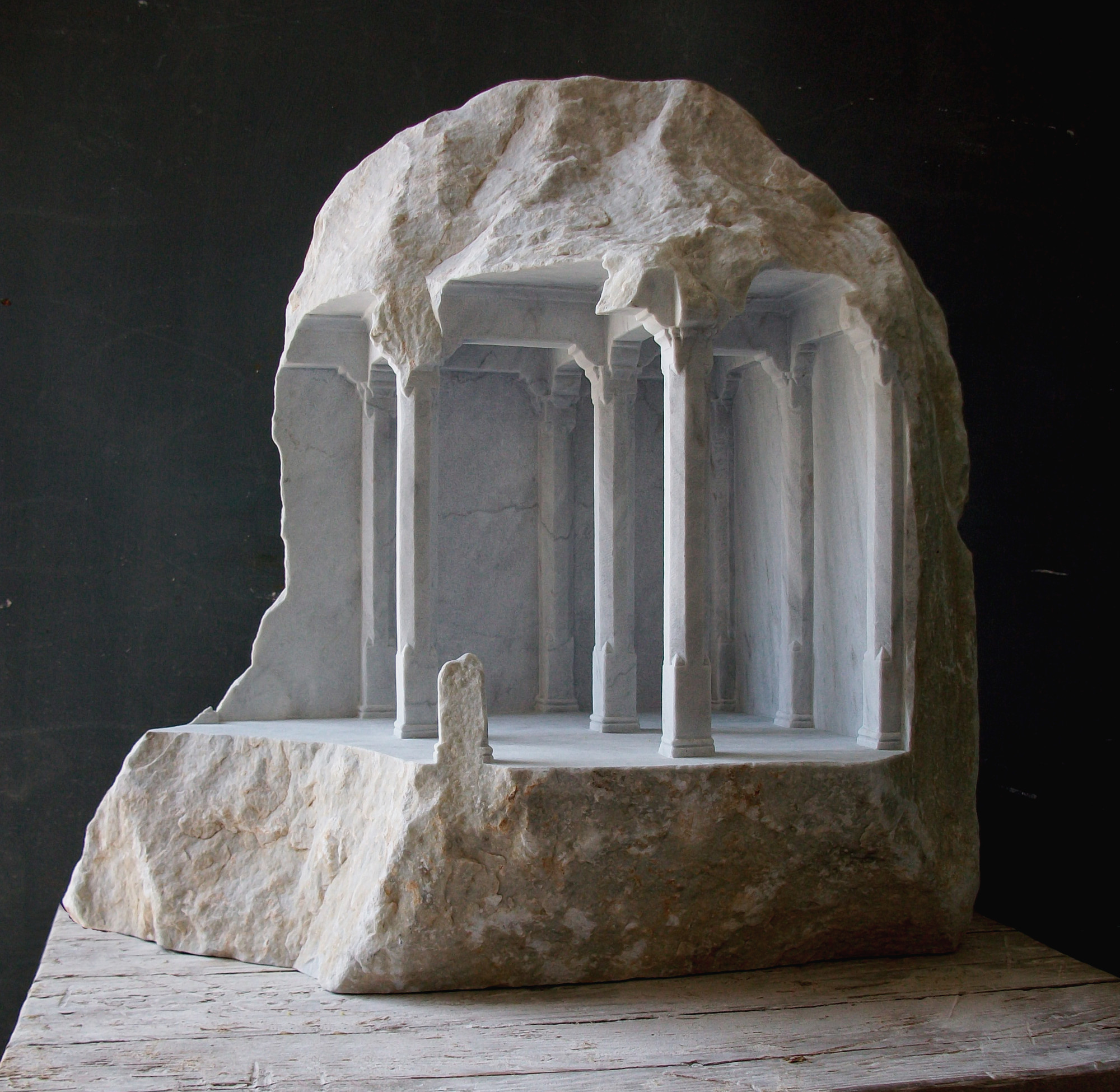 Gallery of miniature spaces carved from stone