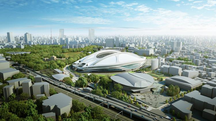 Diseño actualizado para el Estadio Nacional de Tokio. Imagen © Japan Sport Council
