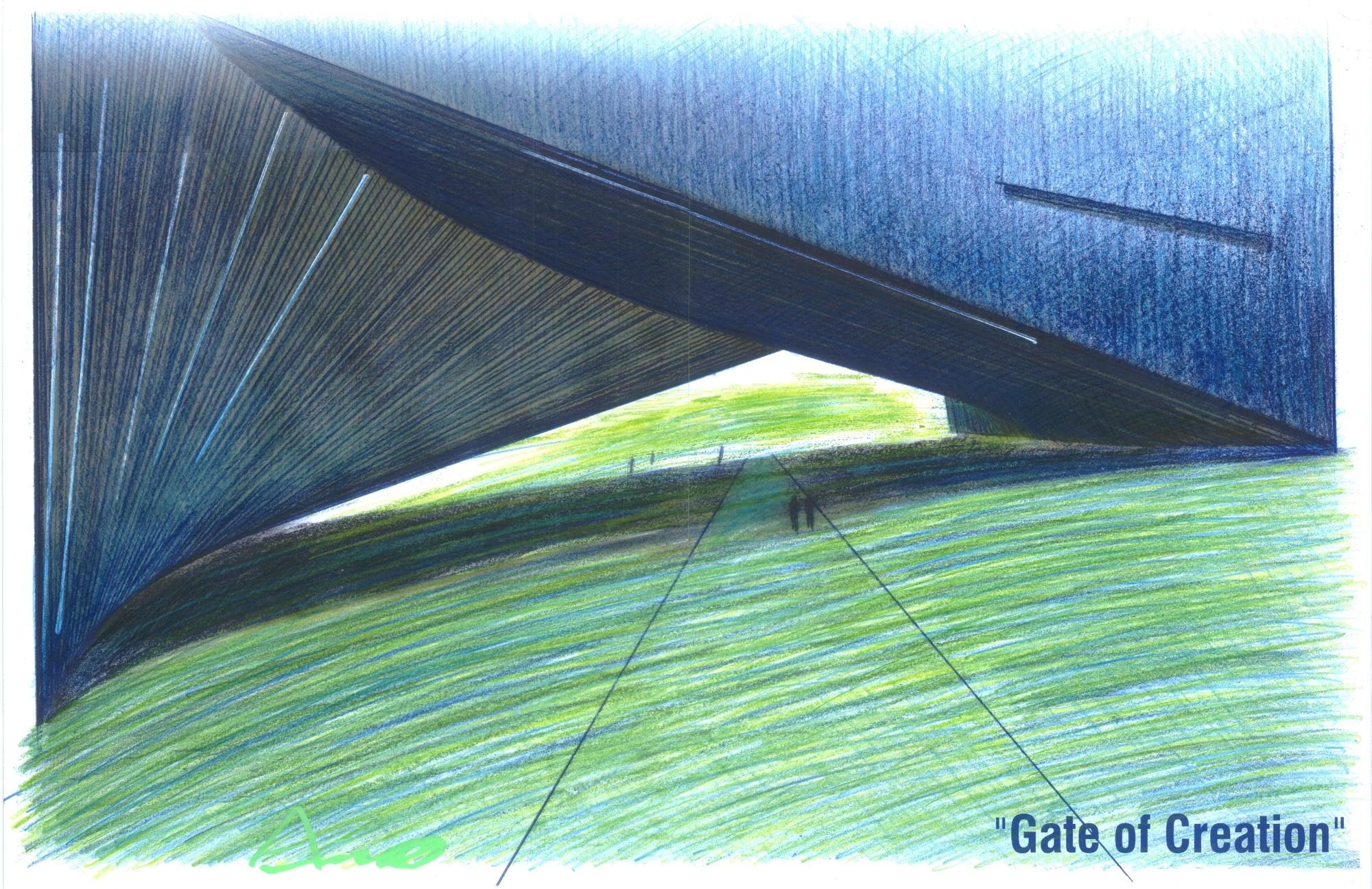 Boceto de Tadao Ando / Cortesía de UDEM