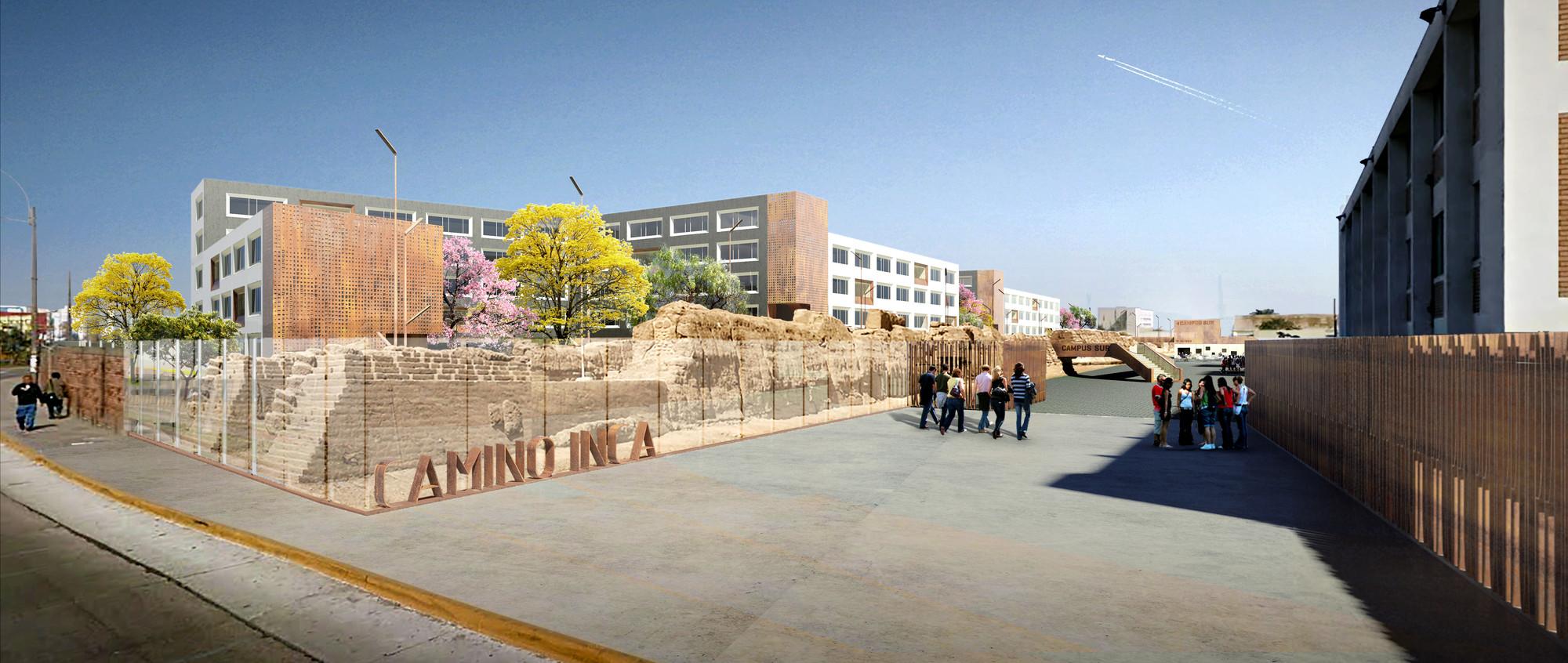Vista entrada. Image Courtesy of Equipo Segundo Lugar