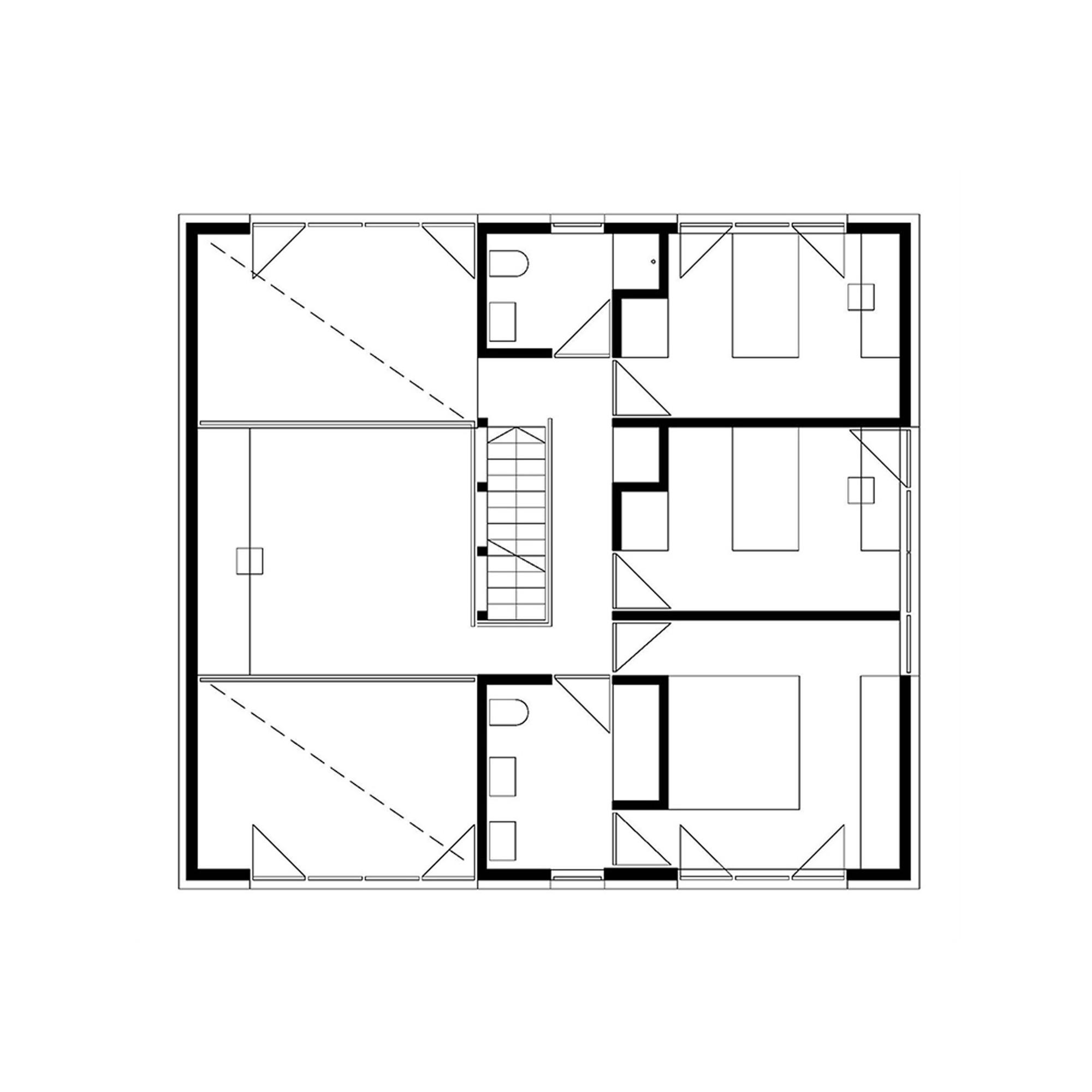 Gallery of single family house in groharjevo 3biro 11 for Single family floor plans