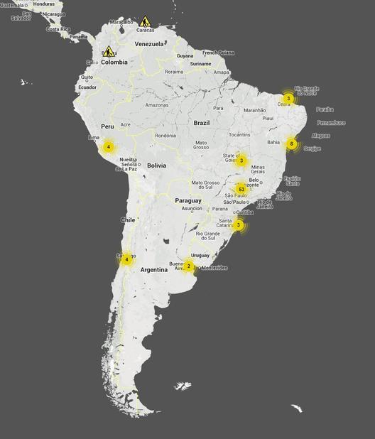 Sudamérica. Image Courtesy of Arquitetos pelo Mundo