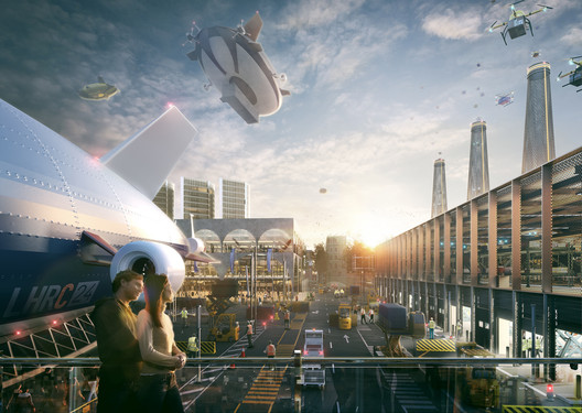 'Romance of the Sky' proposal / Hawkins\Brown. Image © Factory Fifteen