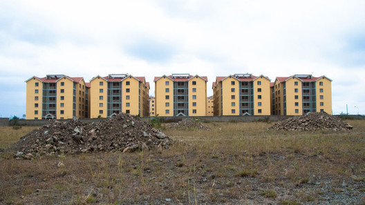 The Great Wall Apartments, a Chinese style residential compound in Nairobi, Kenya. Image Courtesy of Go West Project