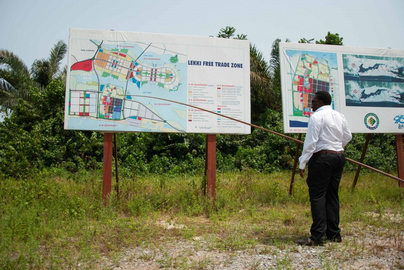 LFZ (Lekki Free Zone), actualmente en construcción, fue planificadoen China. Imagen cortesía de Go West Project.