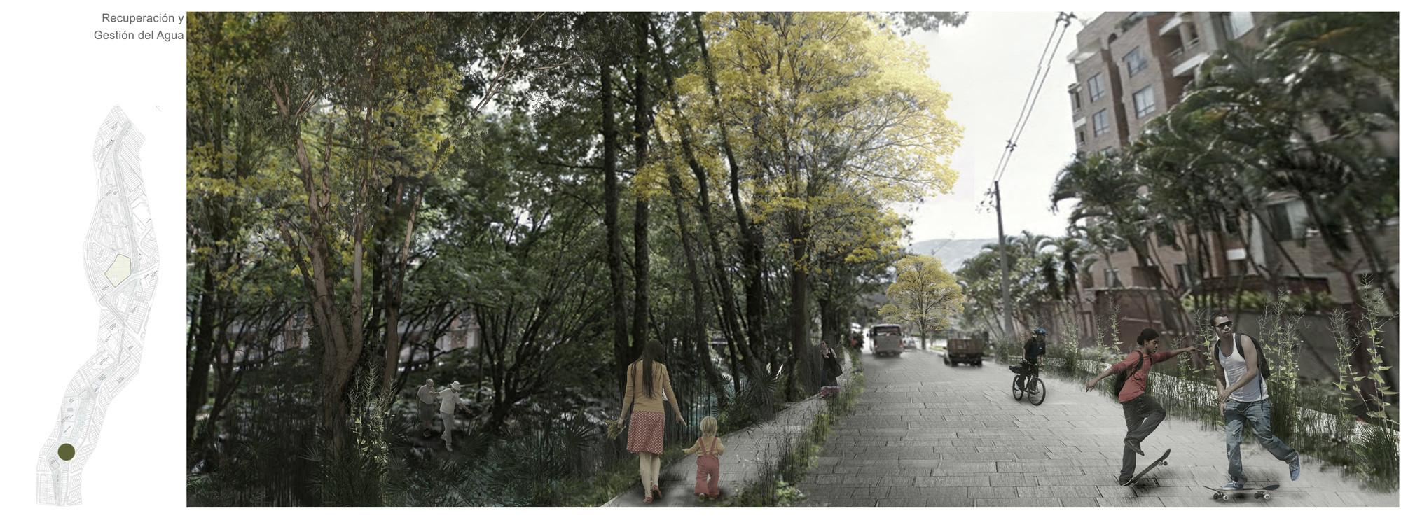 Proyecto urbano 1:2500: vistas. Image Courtesy of Equipo desarrollador