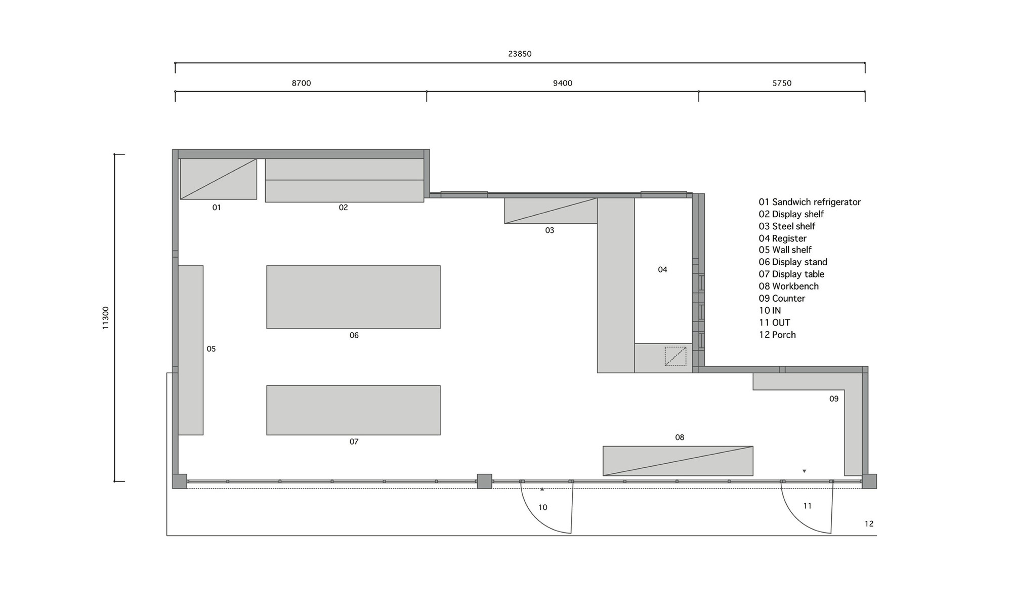 Style bakery snark archdaily for Bakery floor plan