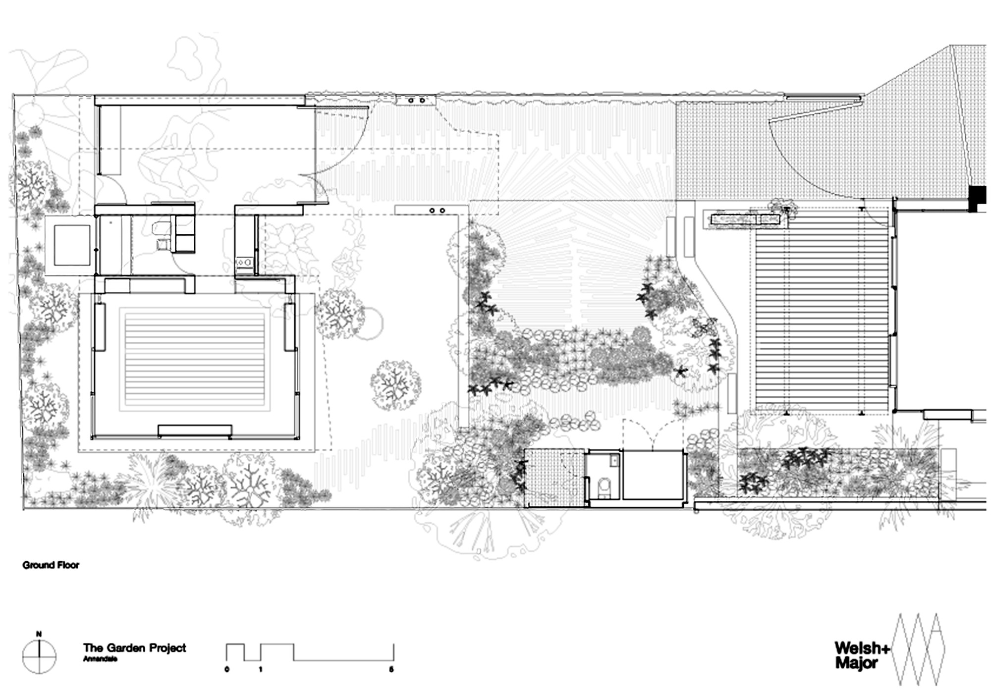 The garden room welsh major archdaily for Garden home floor plans