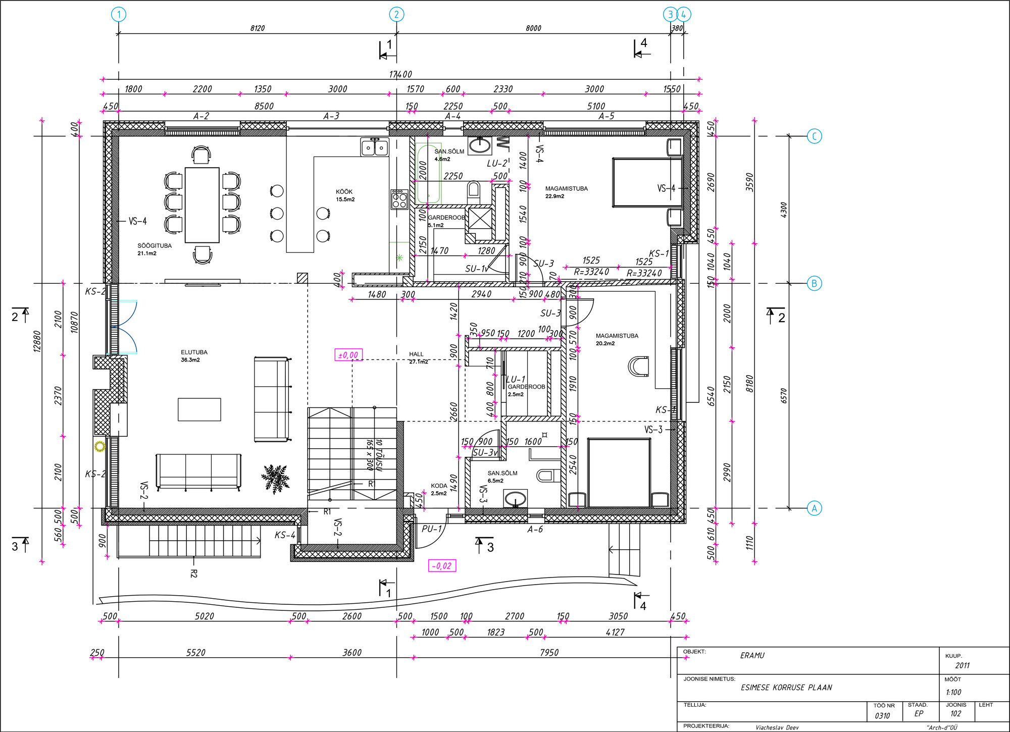 Fl gel haus arch d archdaily for Haus plan