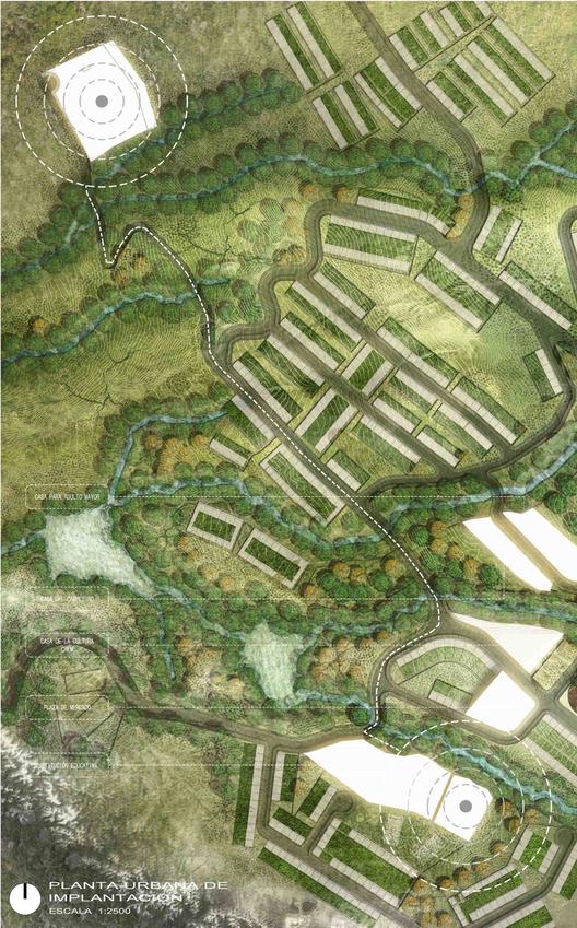 Planta urbana. Image Courtesy of CONTRAPUNTO Taller de Arquitectura