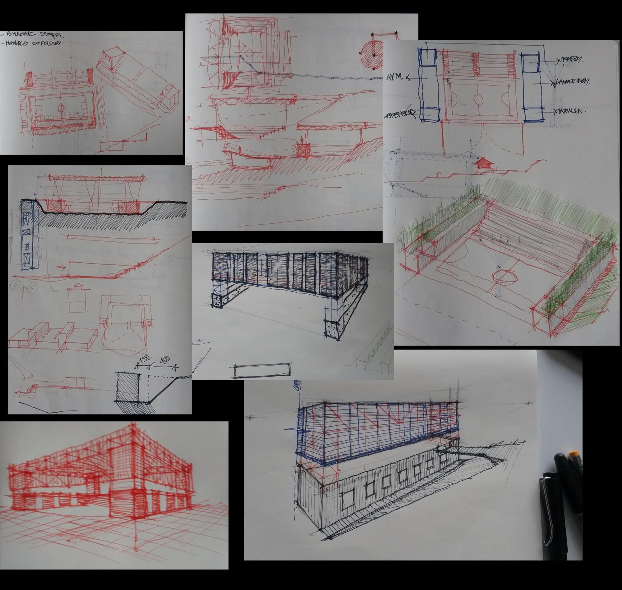 Croquis. Image Courtesy of CONTRAPUNTO Taller de Arquitectura