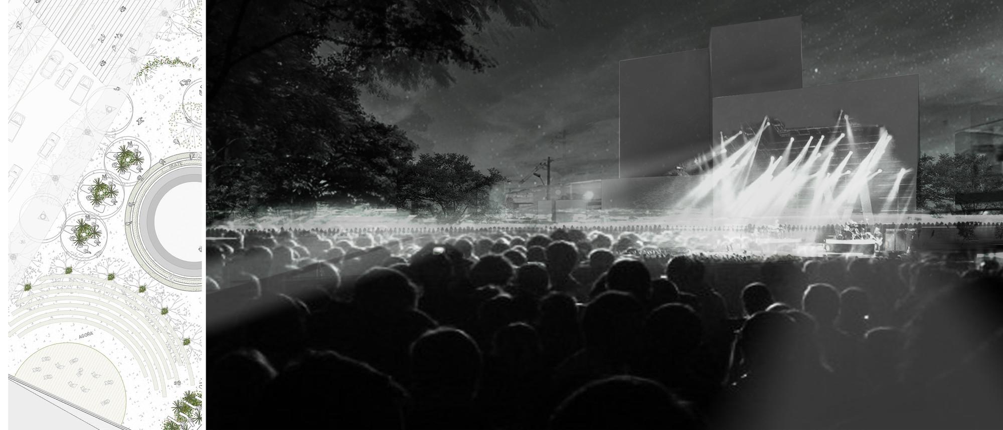 Proyecto urbano 1:500: concierto. Image Courtesy of Equipo desarrollador