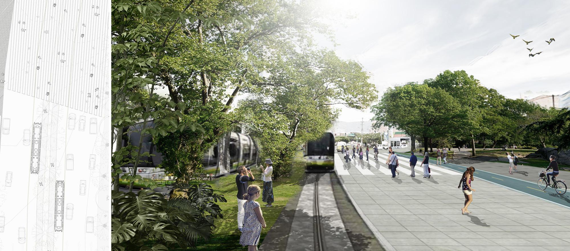 Proyecto urbano 1:500: tranvía. Image Courtesy of Equipo desarrollador