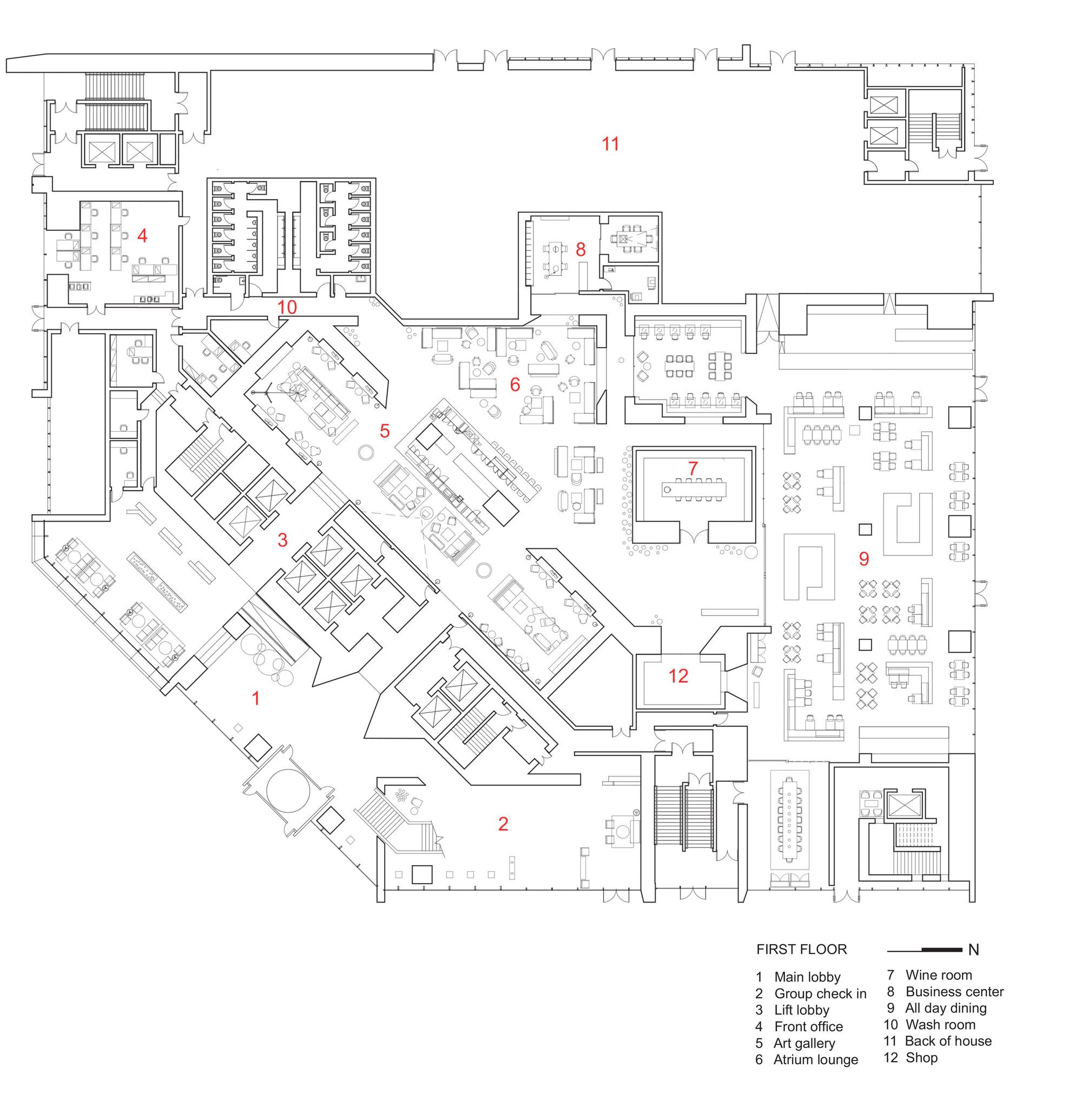 galeria de hotel le meridien zhengzhou neri hu design and research office 9
