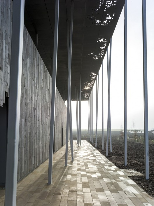 The Roof Of Stonehenge - Custom Zinc Panels Fabricated By VMZINC. Image © Peter Cook
