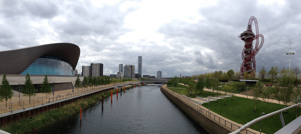 London Announces Design Competition for 'Olympicopolis' Site, The Olympicopolis site is to the South-East of the Olympic Park, near to Zaha Hadid's Aquatics Centre. Image © Flickr CC User Leo Reynolds