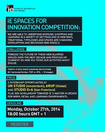 IE School of Architecture and Design Announces SPACES FOR INNOVATION Prize