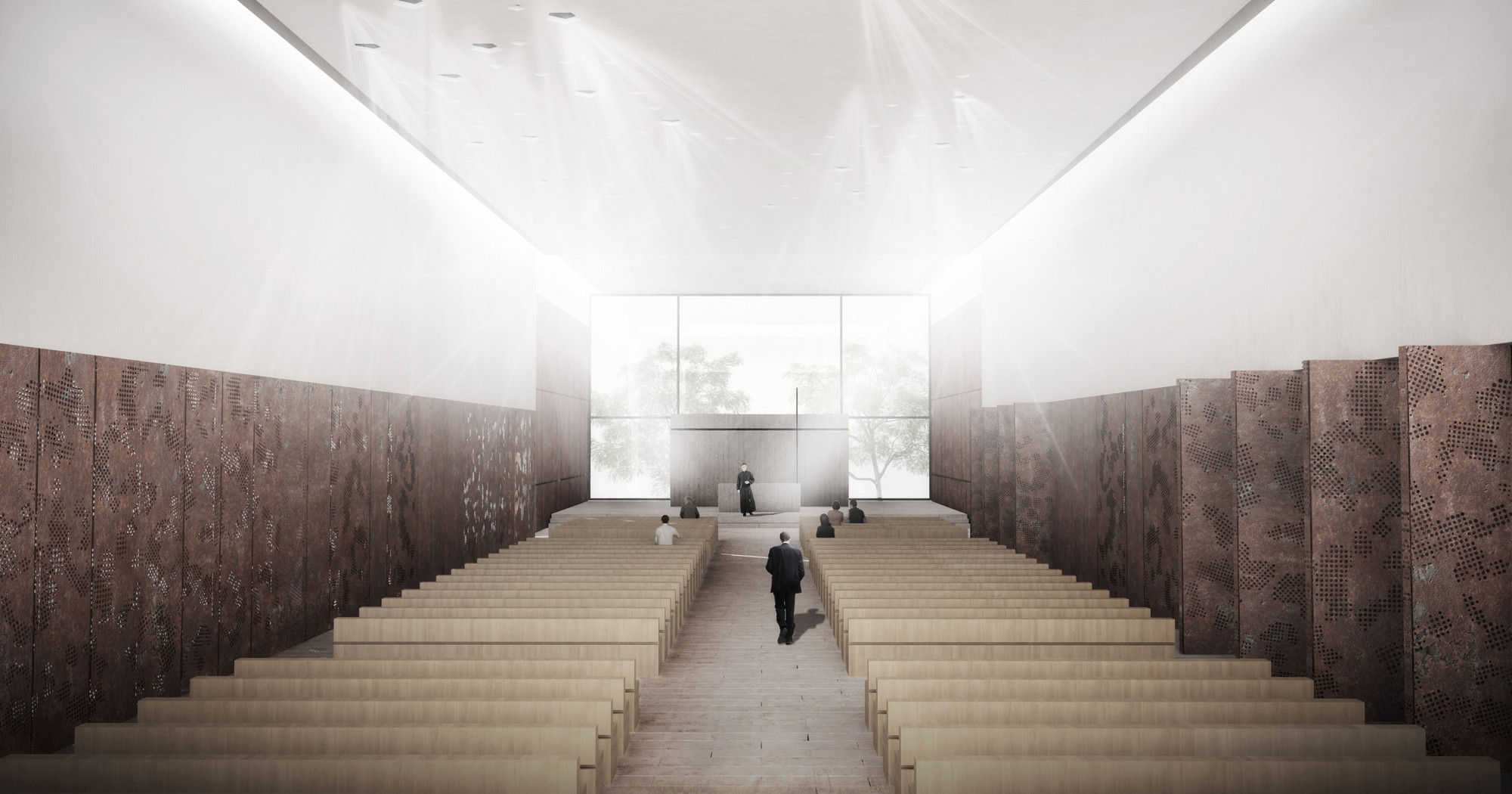 Nave central. Image Courtesy of Taller de arquitectura Singular