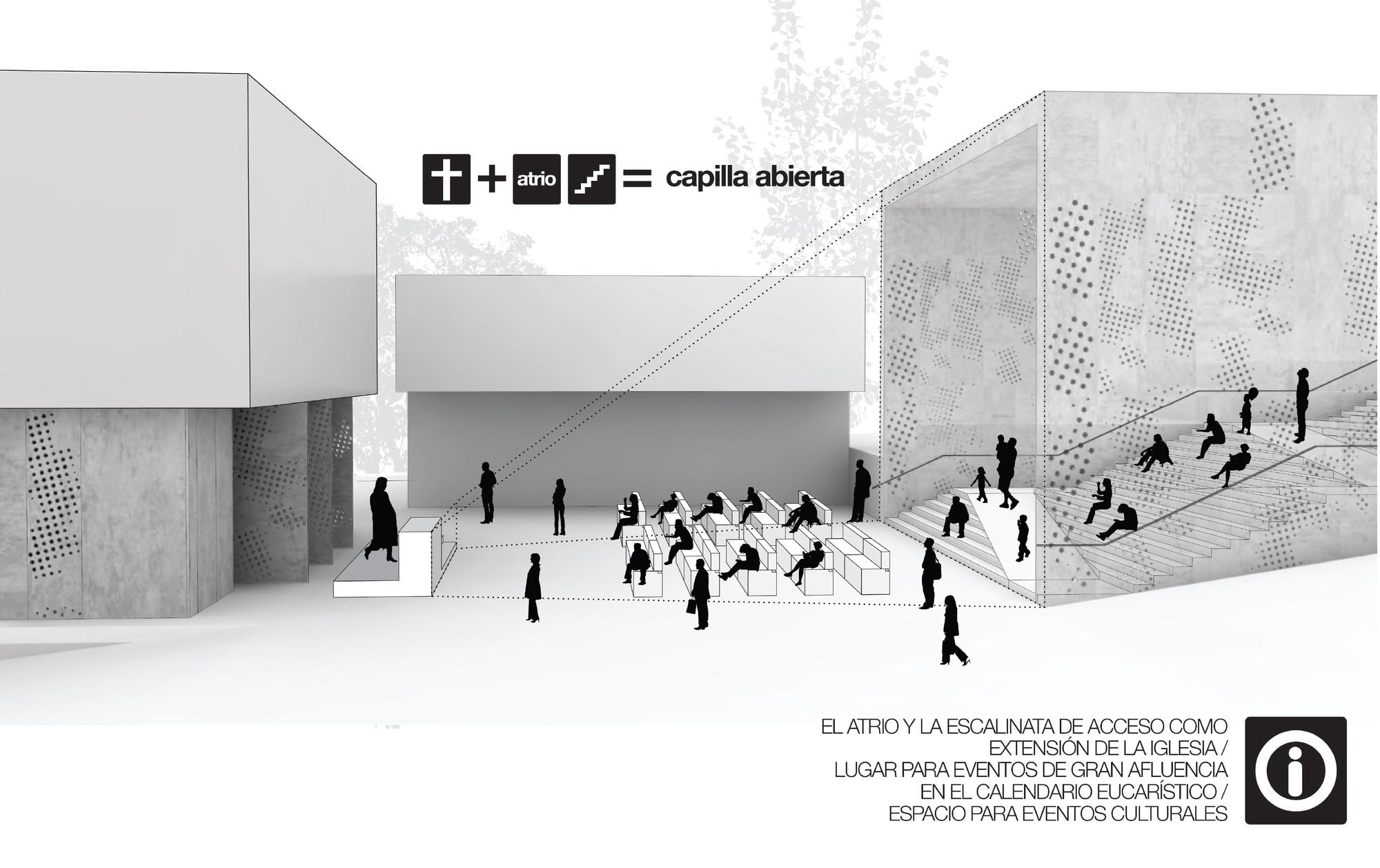 Multifuncionalidad del umbral. Image Courtesy of Taller de arquitectura Singular