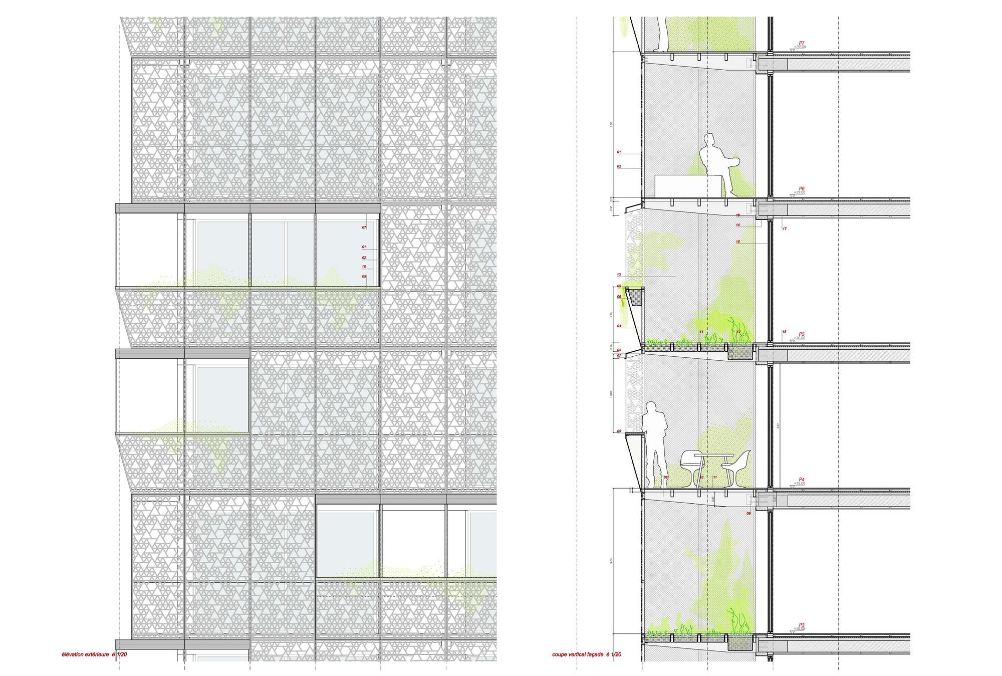 Sistema de Fachadas. Image Courtesy of Herreros Arquitectos