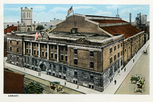 The Louisville Gardens in the early 1900s when it was the Jefferson County Armory. Image © Diane Deaton Street via Flickr