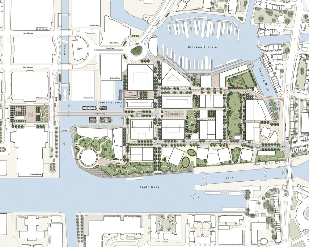 Planta. Imagen cortesía de Canary Wharf Group plc