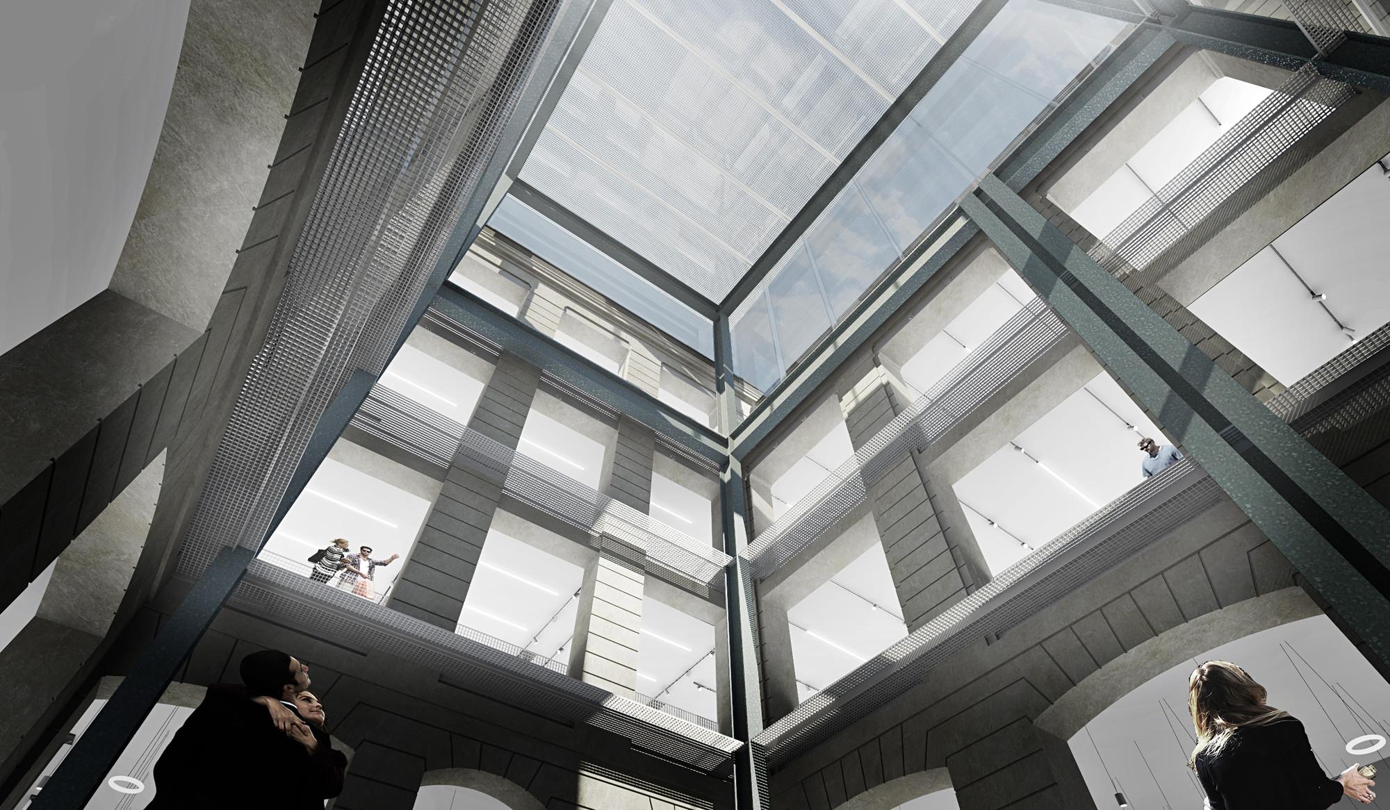 Patio interior. Imágen © OMA