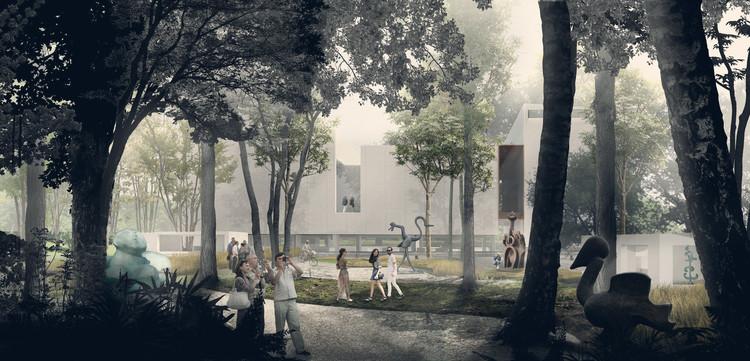 Propuesta ganadora del Museo Juan Soriano / JSª, Cortesía de JSa / Render por Luis Frausto